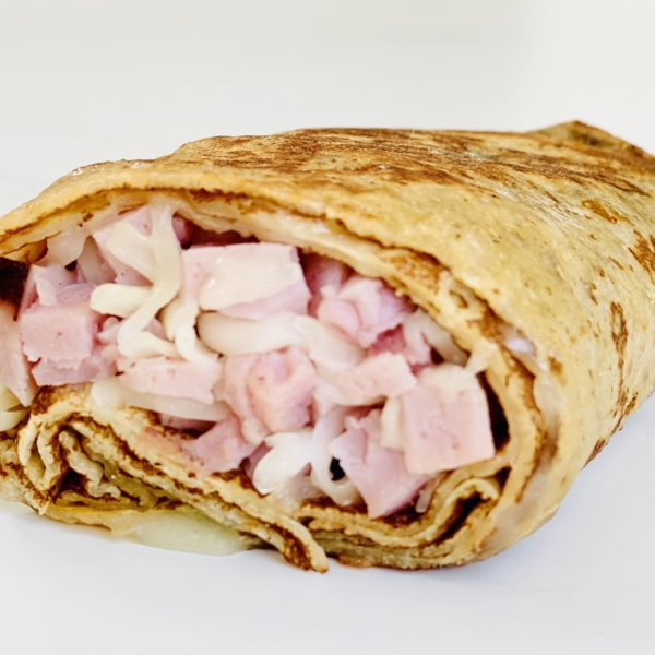 Ham & cheese crepe